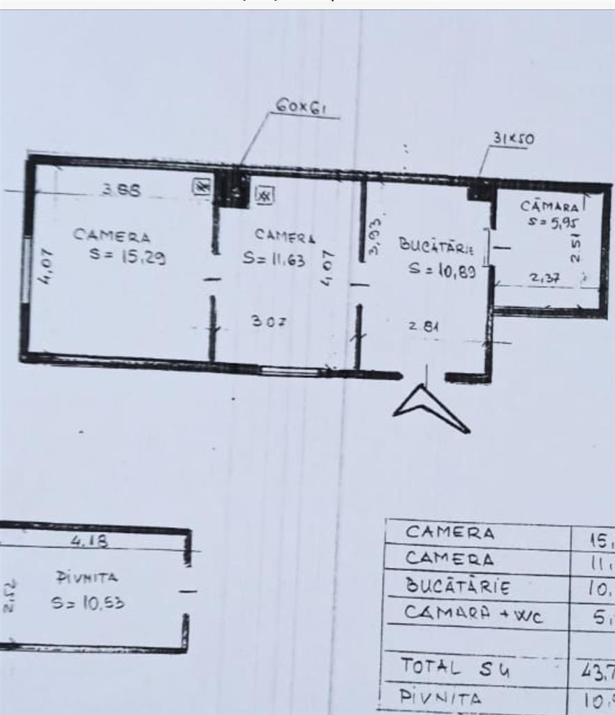 Apartament 2 camere, Central. str. Motilor