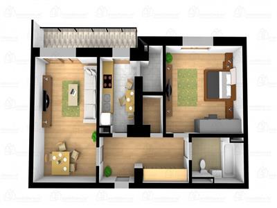 Apartamente in bloc nou, zona Iulius Mall